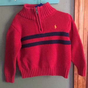 Polo by Ralph lauren red pull over sweater